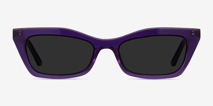 Suite Purple Acetate Sunglass Frames from EyeBuyDirect, Front View