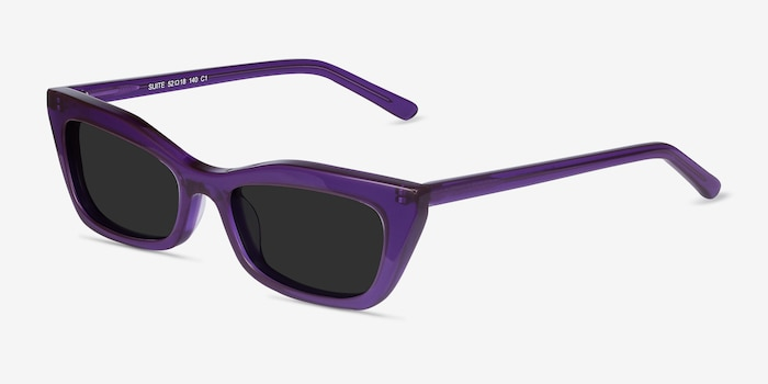 Suite Purple Acetate Sunglass Frames from EyeBuyDirect, Angle View