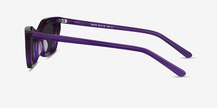 Suite Purple Acetate Sunglass Frames from EyeBuyDirect, Side View