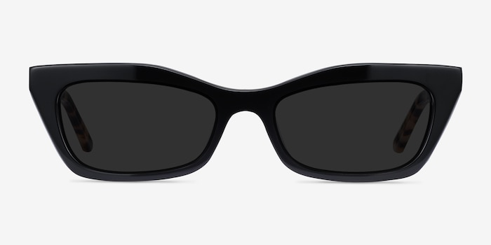 Suite Black Acetate Sunglass Frames from EyeBuyDirect, Front View