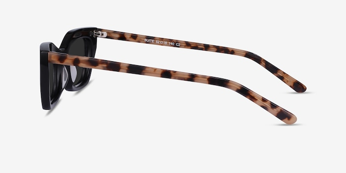 Suite Black Acetate Sunglass Frames from EyeBuyDirect, Side View