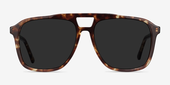 Aster Light Tortoise Acetate Sunglass Frames from EyeBuyDirect, Front View