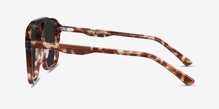Aster Light Tortoise Acetate Sunglass Frames from EyeBuyDirect, Side View