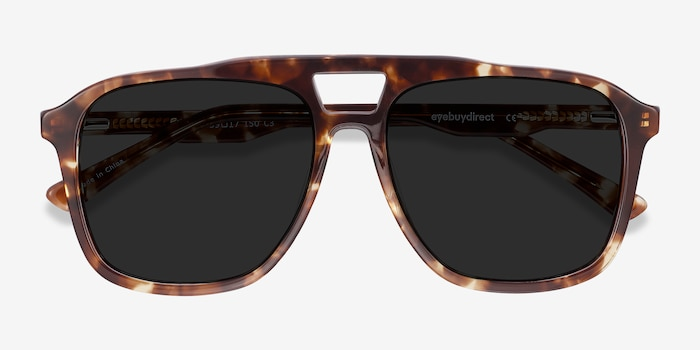 Aster Light Tortoise Acetate Sunglass Frames from EyeBuyDirect, Closed View