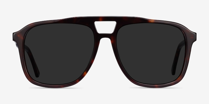 Aster Dark Tortoise Acetate Sunglass Frames from EyeBuyDirect, Front View