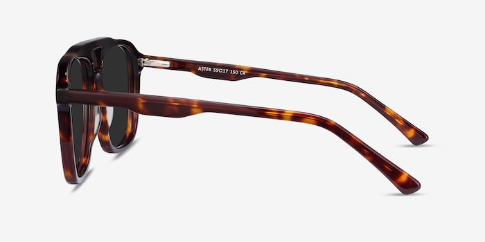 Aster Dark Tortoise Acetate Sunglass Frames from EyeBuyDirect, Side View