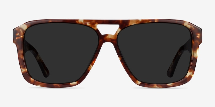 Bauhaus Havana Tortoise Acetate Sunglass Frames from EyeBuyDirect, Front View