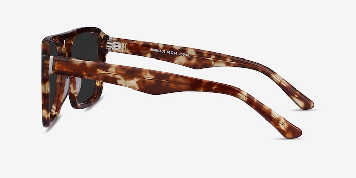 Bauhaus Havana Tortoise Acetate Sunglass Frames from EyeBuyDirect, Side View