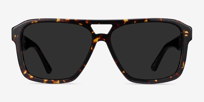 Bauhaus Dark Tortoise Acetate Sunglass Frames from EyeBuyDirect, Front View