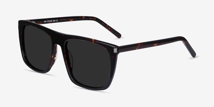 Jim Dark Tortoise Acetate Sunglass Frames from EyeBuyDirect, Angle View