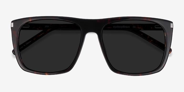 Jim Dark Tortoise Acetate Sunglass Frames from EyeBuyDirect, Closed View