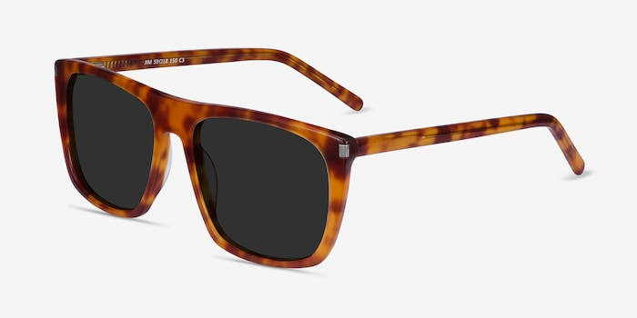 Jim Light Tortoise Acetate Sunglass Frames from EyeBuyDirect, Angle View