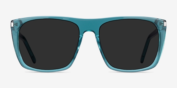 Jim Teal Acetate Sunglass Frames from EyeBuyDirect, Front View