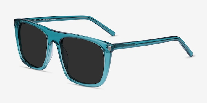 Jim Teal Acetate Sunglass Frames from EyeBuyDirect, Angle View