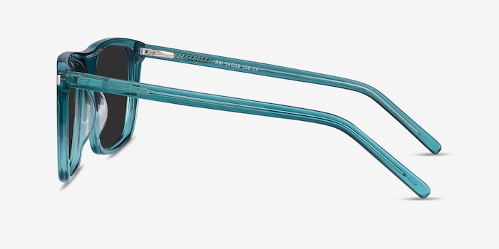 Jim Teal Acetate Sunglass Frames from EyeBuyDirect, Side View