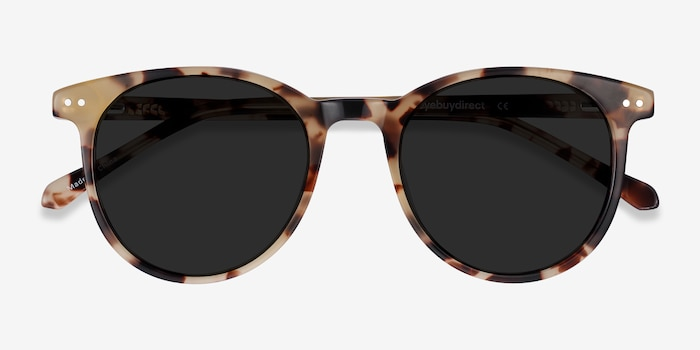 Seah Tortoise Acetate Sunglass Frames from EyeBuyDirect, Closed View