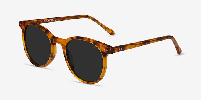 Seah Warm Tortoise Acetate Sunglass Frames from EyeBuyDirect, Angle View