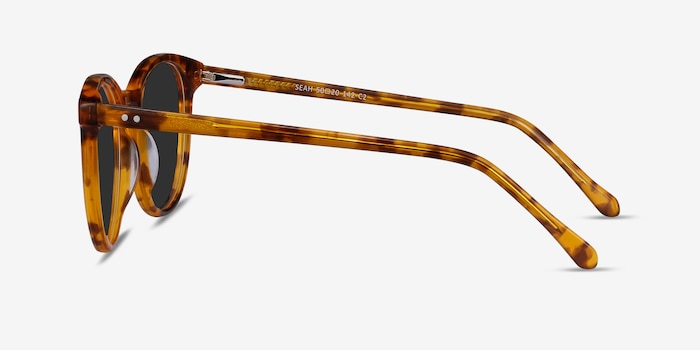 Seah Warm Tortoise Acetate Sunglass Frames from EyeBuyDirect, Side View