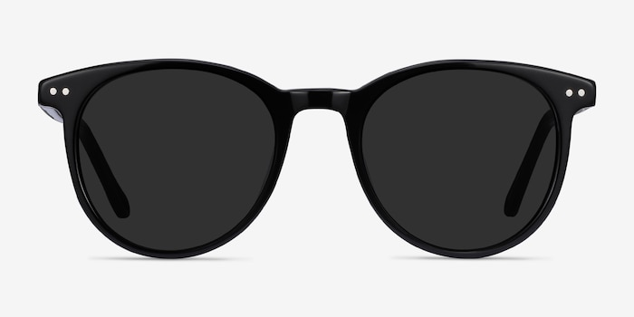 Seah Black Acetate Sunglass Frames from EyeBuyDirect, Front View
