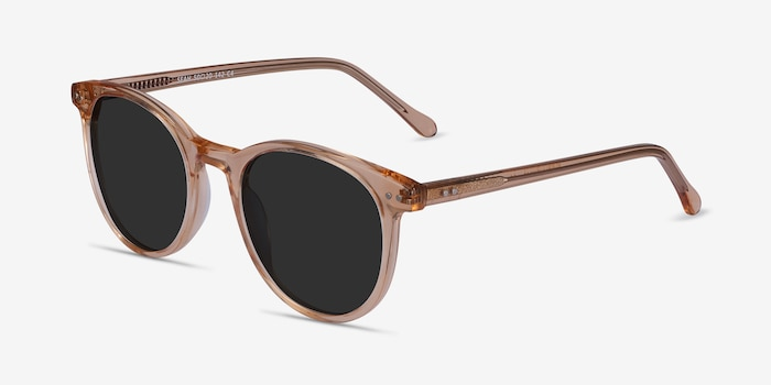 Seah Clear Brown Acetate Sunglass Frames from EyeBuyDirect, Angle View