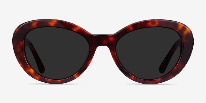 Elle Tortoise Acetate Sunglass Frames from EyeBuyDirect, Front View