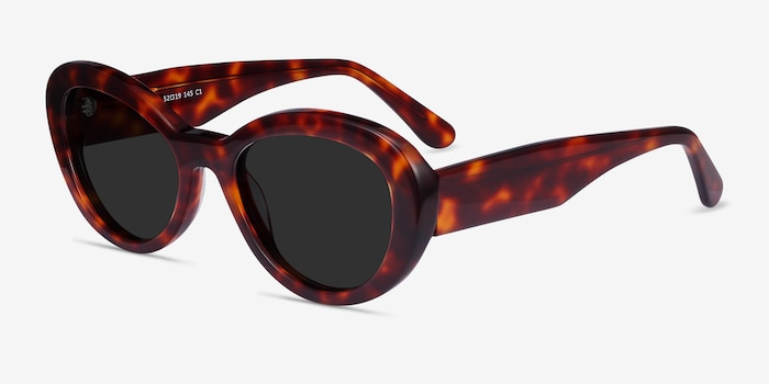 Elle Tortoise Acetate Sunglass Frames from EyeBuyDirect, Angle View