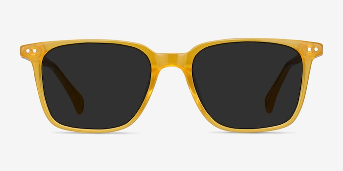Luck Yellow Acetate Sunglass Frames from EyeBuyDirect, Front View