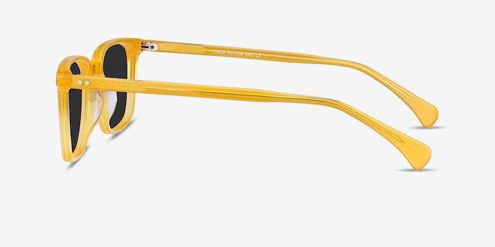 Luck Yellow Acetate Sunglass Frames from EyeBuyDirect, Side View