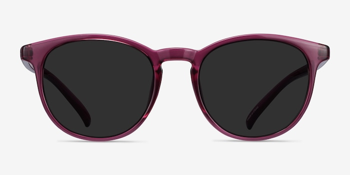 Deja Vu Cassis Plastic Sunglass Frames from EyeBuyDirect, Front View