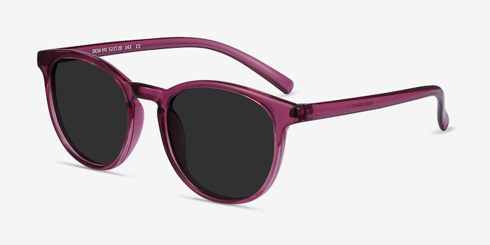 Deja Vu Cassis Plastic Sunglass Frames from EyeBuyDirect, Angle View