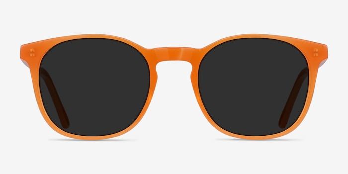 Safari Orange Acetate Sunglass Frames from EyeBuyDirect, Front View