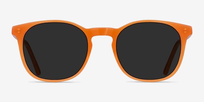 Safari Orange Acétate Soleil de Lunette de vue d'EyeBuyDirect, Vue de Face