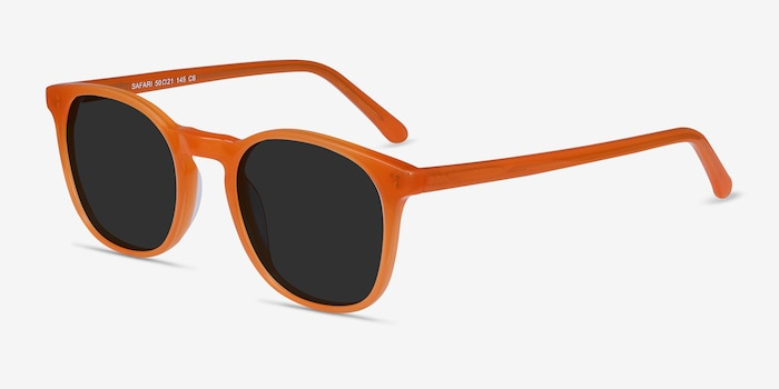 Safari Orange Acetate Sunglass Frames from EyeBuyDirect, Angle View