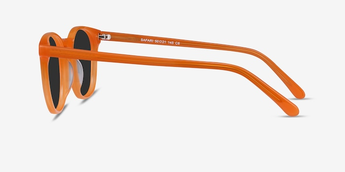 Safari Orange Acetate Sunglass Frames from EyeBuyDirect, Side View