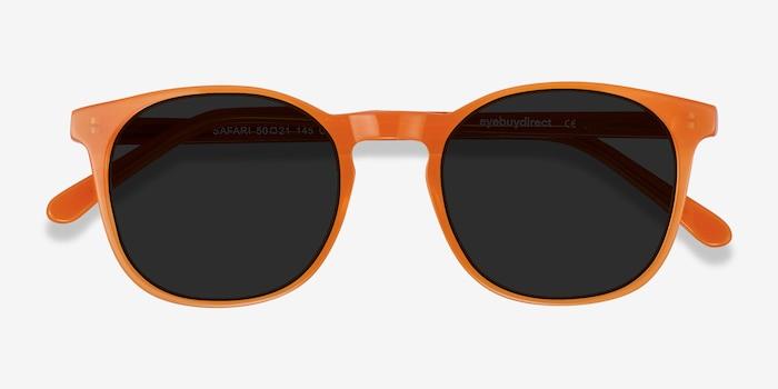 Safari Orange Acétate Soleil de Lunettes d'EyeBuyDirect, Vue Rapprochée