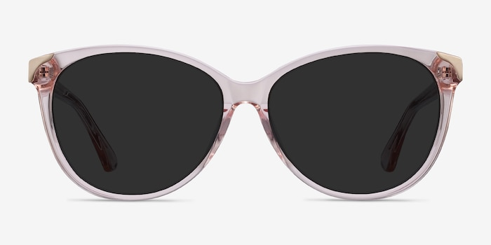 Lima Clear Pink Acetate Sunglass Frames from EyeBuyDirect, Front View