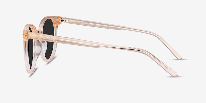 Hideout Clear Melon Acetate Sunglass Frames from EyeBuyDirect, Side View