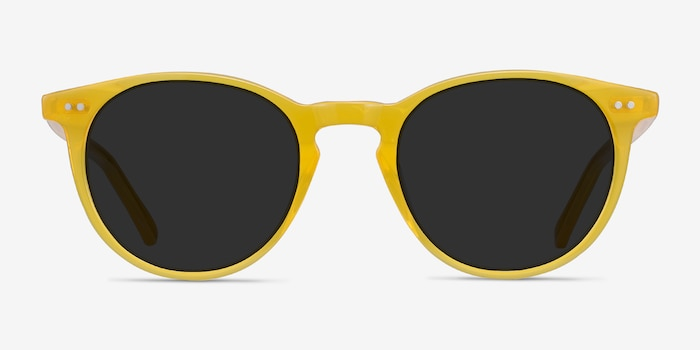 Sun Kyoto Yellow Acetate Sunglass Frames from EyeBuyDirect, Front View