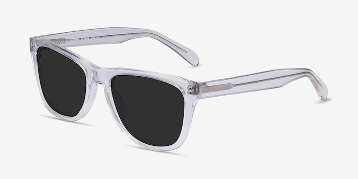 Malibu Clear Acetate Sunglass Frames from EyeBuyDirect, Angle View