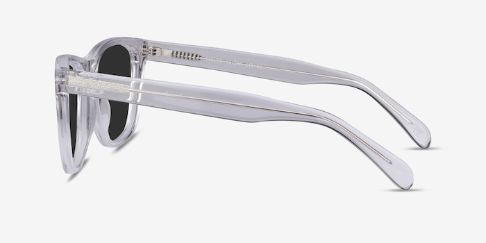Malibu Clear Acetate Sunglass Frames from EyeBuyDirect, Side View