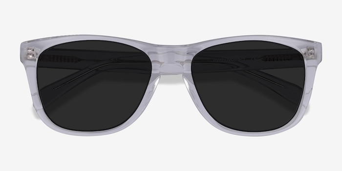 Malibu Clear Acetate Sunglass Frames from EyeBuyDirect, Closed View