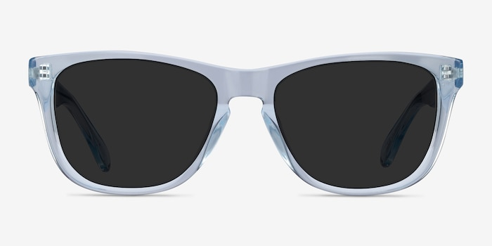 Malibu Clear Blue Acetate Sunglass Frames from EyeBuyDirect, Front View