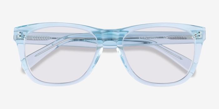 Malibu Clear Blue Acétate Soleil de Lunettes d'EyeBuyDirect, Vue Rapprochée
