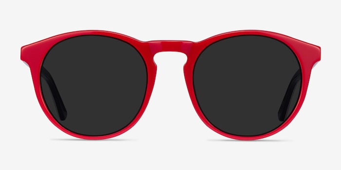 Monument Red & Navy Acetate Sunglass Frames from EyeBuyDirect, Front View