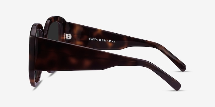 Bianca Tortoise Acetate Sunglass Frames from EyeBuyDirect, Side View