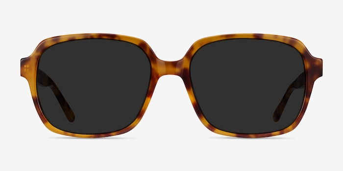 Marlon Tortoise Acetate Sunglass Frames from EyeBuyDirect, Front View