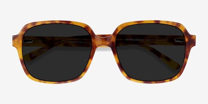 Marlon Tortoise Acetate Sunglass Frames from EyeBuyDirect, Closed View