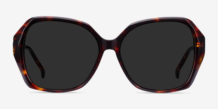 Isabella Tortoise Acetate Sunglass Frames from EyeBuyDirect, Front View