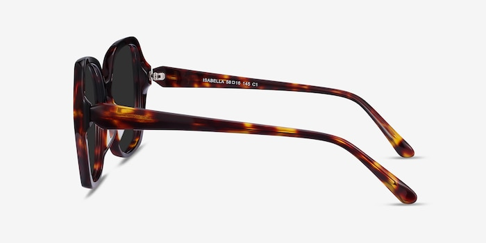 Isabella Tortoise Acetate Sunglass Frames from EyeBuyDirect, Side View