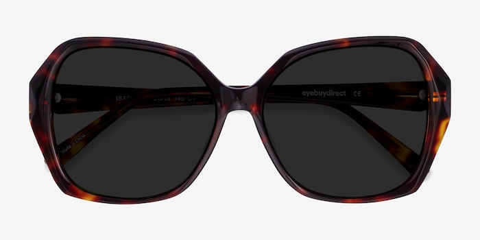 Isabella Tortoise Acetate Sunglass Frames from EyeBuyDirect, Closed View